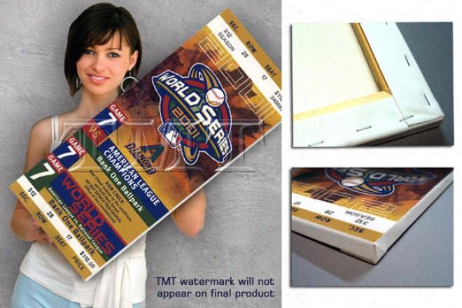 Arizona Diamondbacks 2001 World S3ries Game 7 Canvas Mega Ticket