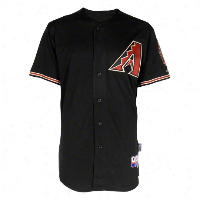 Arizona Diamondbacks Alternate Black Authentic Cool Baseã¢â�žâ¢ On-field Mlb Jersey