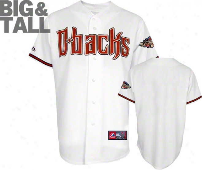 Arizona Diamondbacks Big & Tall Home White Replica Jersey With 2011 All-star Game Patch