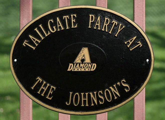 Arizona Diamondbacks Black And Gold Personalized Indoor/outdoor Plaque