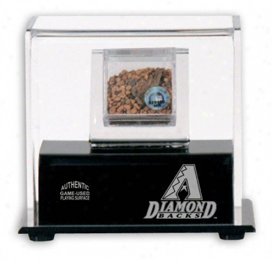 Arizona Diamondbscks Game Used Dirt With Logo Display Case