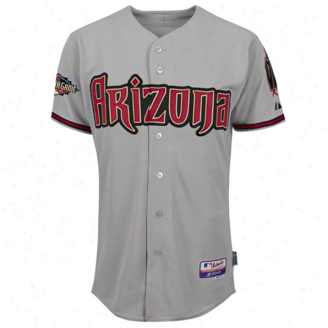 Arizona Diamondbacks Road Grey Authentic Cool Baseã¢â�žâ¢ On-field Jersey With 2011 All-sta Game Patch