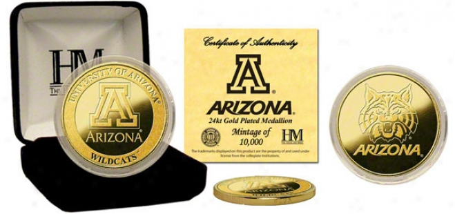Arizona Wildcats 24kt Gold Coin