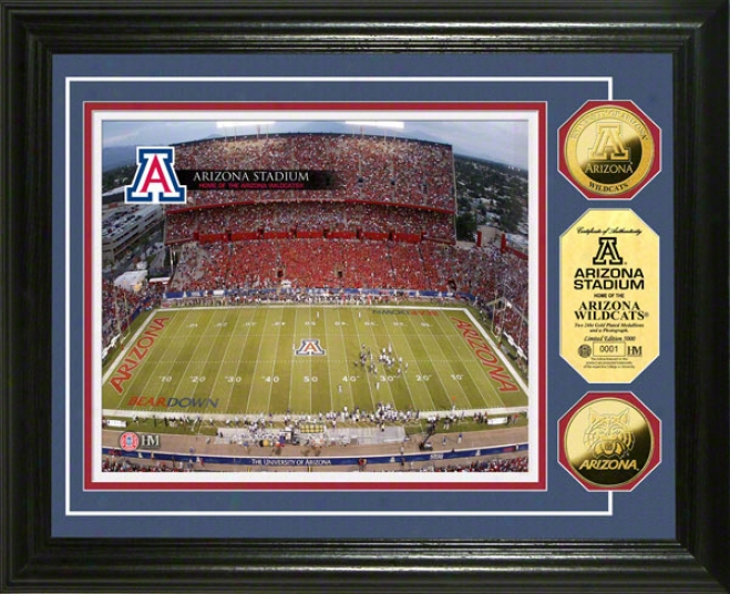 Arizona Wildcats Stadium 24ktG olld Coin Photo Mint