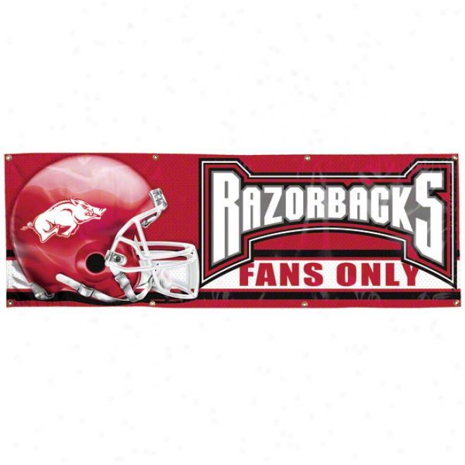 Arkansas Razorbacks 2x6 Vinyl Banner