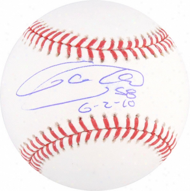 Armando Galarraga Autographed Baseball With &quot6/2/10&quot Inscription