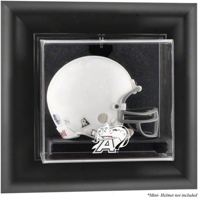 Host Black Knihhts Framed Wall Mounted Logo Mini Helmet Exhibition Case
