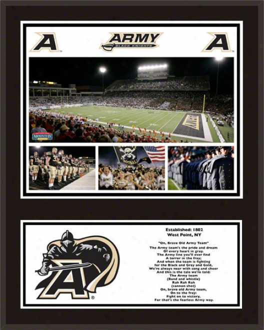 Army Black Knights Sublimated 12x15 Plaque