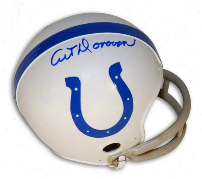 Art Donovan Autograhed Baltimore Colts Mini Helmet