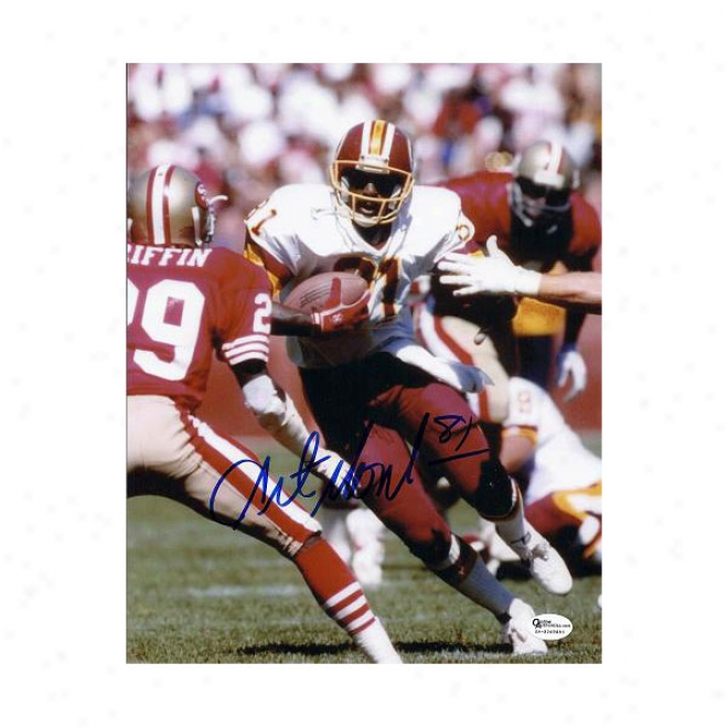 Art Monk Autographed Washington Redskins 8x10 Running Photo