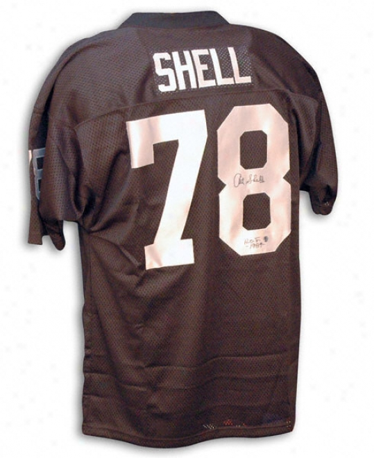 Art Shell Autofraphed Black Throwback Jersey