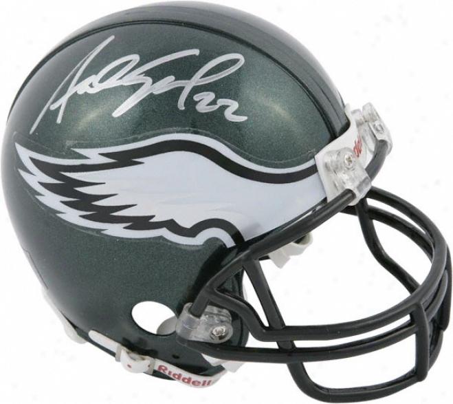 Asante Samuel Philadelphia Eagles Autographed Mini Helmet