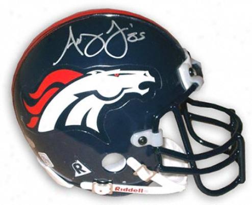 Ashley Lelie Denver Broncos Autographed Mini Helmet