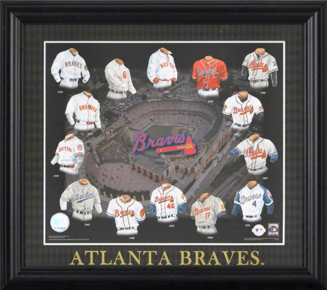 Atlanta Braves 13x15 Framed Print  Details: Evolution