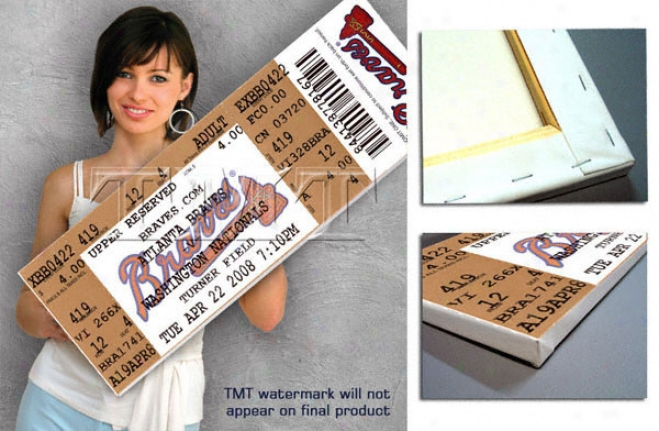Atlanta Braves - John Smoltz 3,000th Strikeout April 22,, 2008 - Canvas Mega Ticket