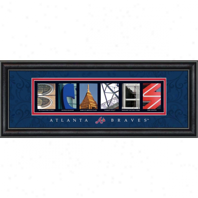 Atlanta Braves Letter Art
