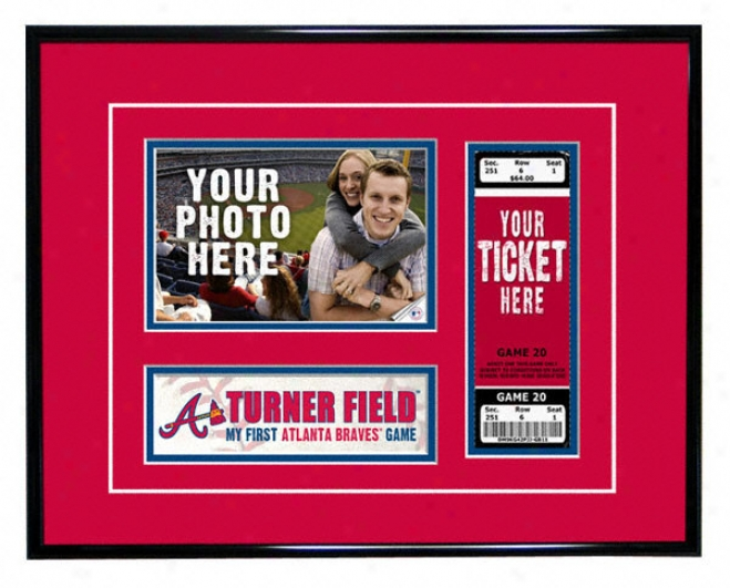 Atlanta Braves - My First Game - Ticket Frame