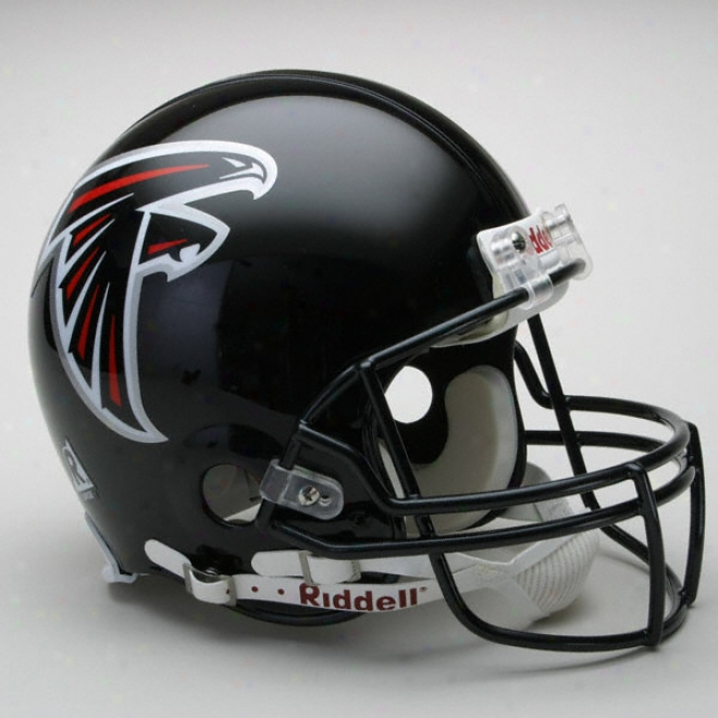 Atlanta Falcons Authentic Pro Line Riddell Fuil Size Helmet