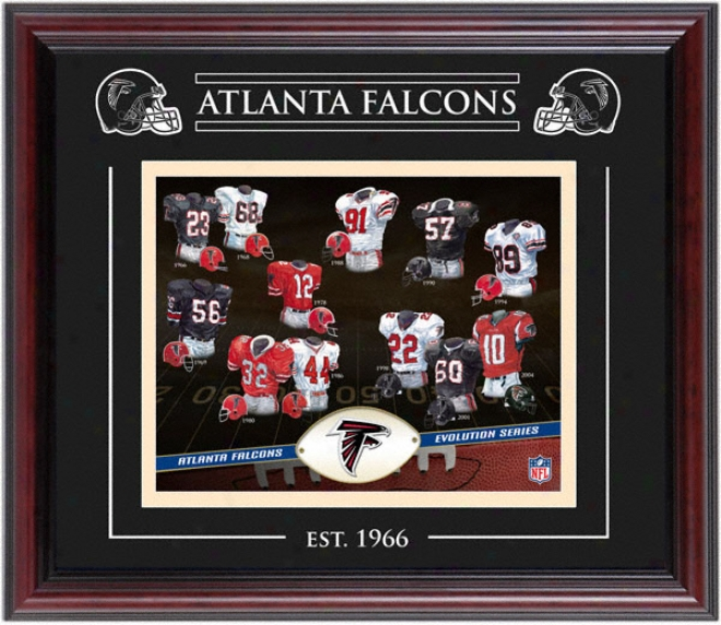 Atlanta Falcons - Evolution - Framed 8x10 Collage Wigh Laser Etching
