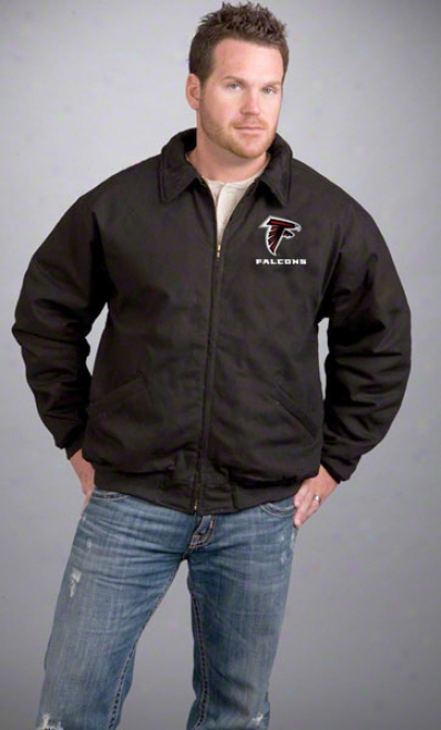 Atlanta Falcons Jacket: Black Reebok Saginaw Jerkin