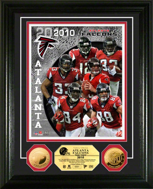 Atlanta Falcons Team Force 24kt Gold Coin Photo Invent