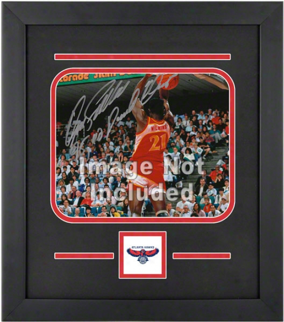 Atlanta Hawks 8x10 Horizontal Setup Frame With Team Logo