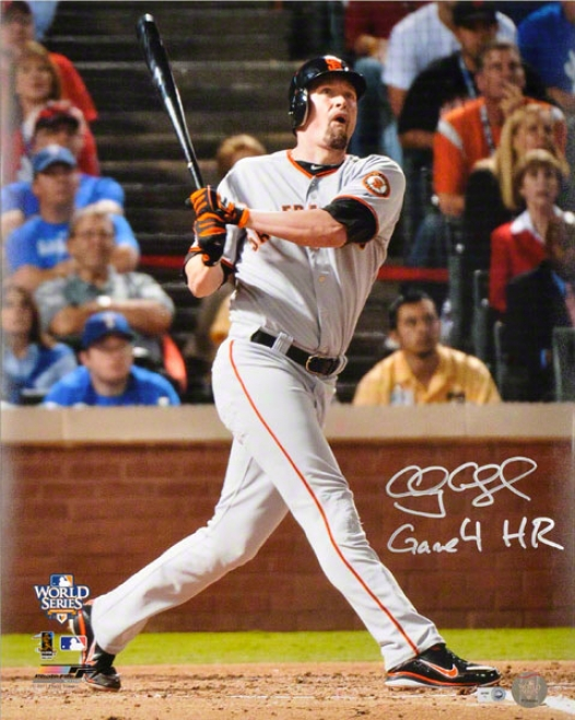 Aubrey Huff Autographed Photograph  Details: San Francisco Giants, 16x20, Gamble 4 Hr Inscription