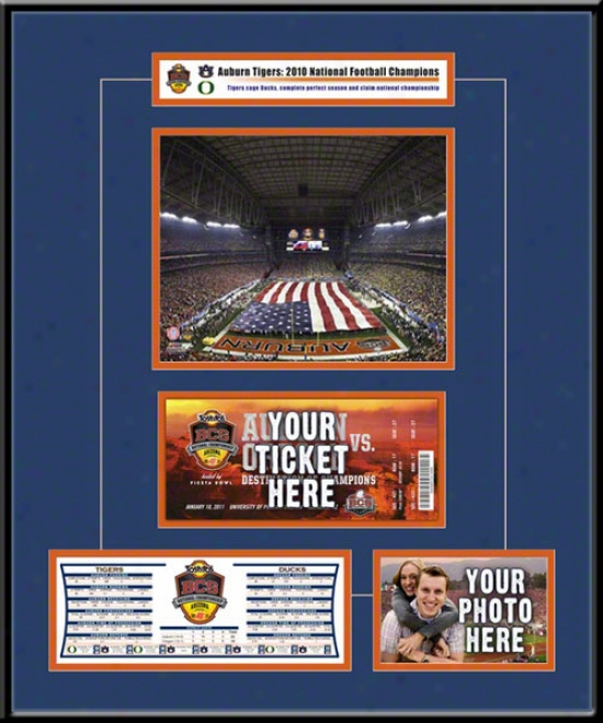Auburn Tigers 2010 Bcs Public Champions Ticket Fame