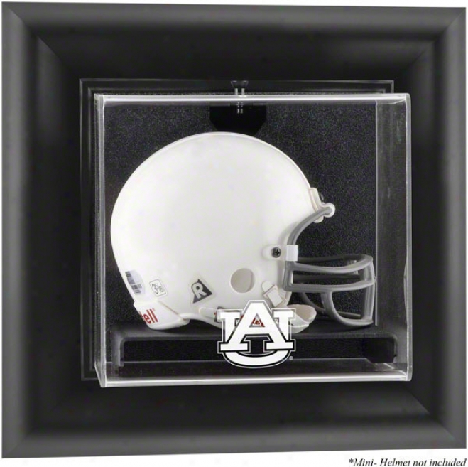 Auburn Tigers Framed Wall Mounted Logo Mini Helmet Display Case