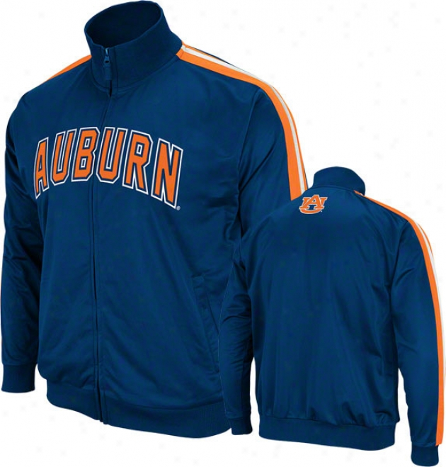 Auburn Tigers Navy Gait Track Jacket