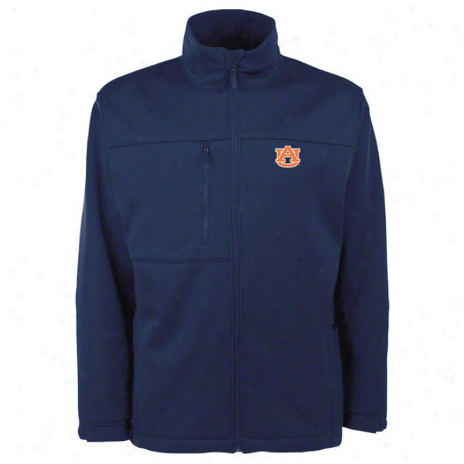 Auburn Tigers Navy Traverse Bonded Soft Shell Jacket