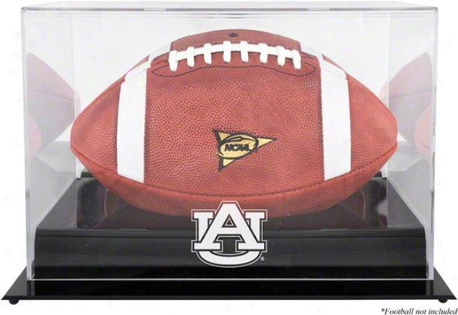 Auburn Tigers Team Logo Football Displwy Case  Details: Black Base