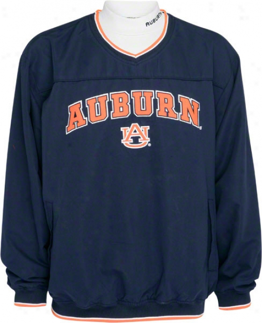 Auburn Tiges Windshirt/long Sleeve Mockneck Combo Pack