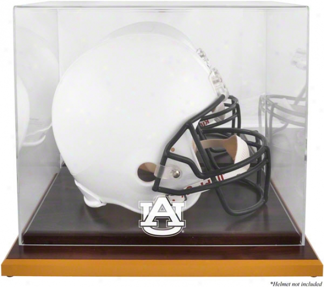 Auburn Tigers Woodbase Logo Helmet Display Case