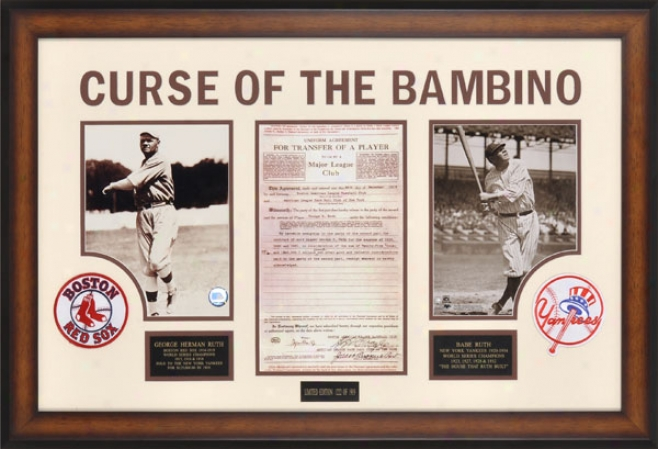 Babe Ruth - Curse Of The Bambino - Framed 8x10 Photographs