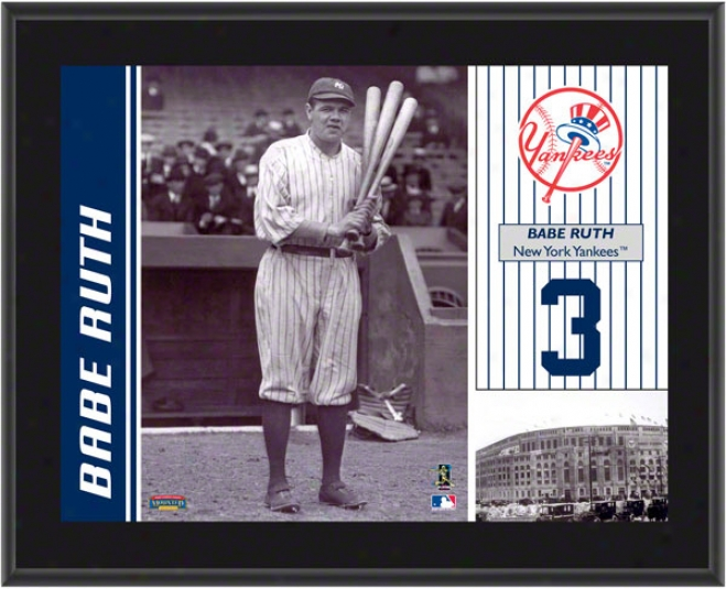 Infant Ruth Plaque  Particulars: New York Yankees, Sublimaated, 10x13, Mlb Plaque