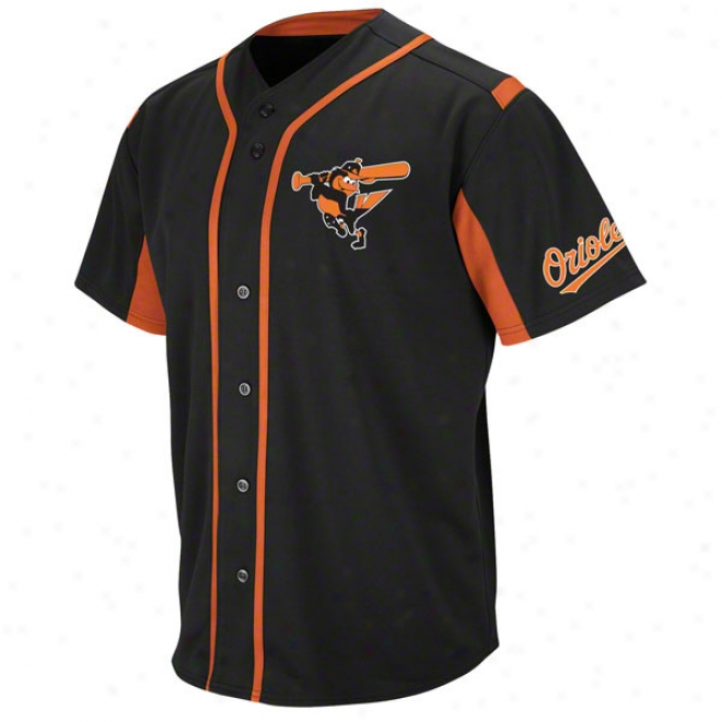 Baltimore Orioles Biack Wind-up Jersey
