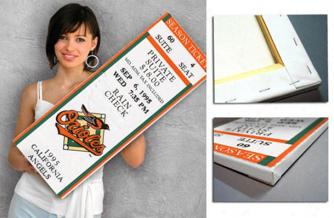Baltimore Orioles - Cal Ripken Jr.'s 2,131 Consecutive Game - Canvas Mega Ticket