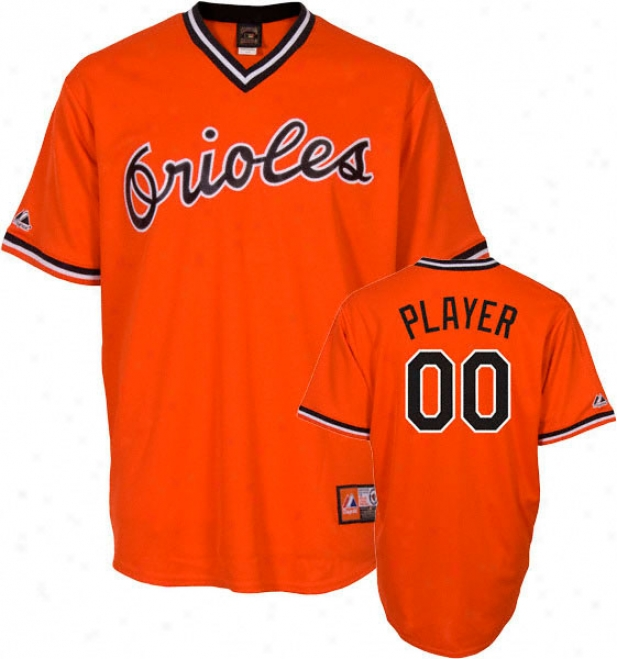 Baltimore Orioles Coopperstown Oraange -any Player- Replica Jersey