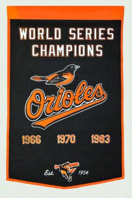 Baltimore Orioles Dynasty Banner