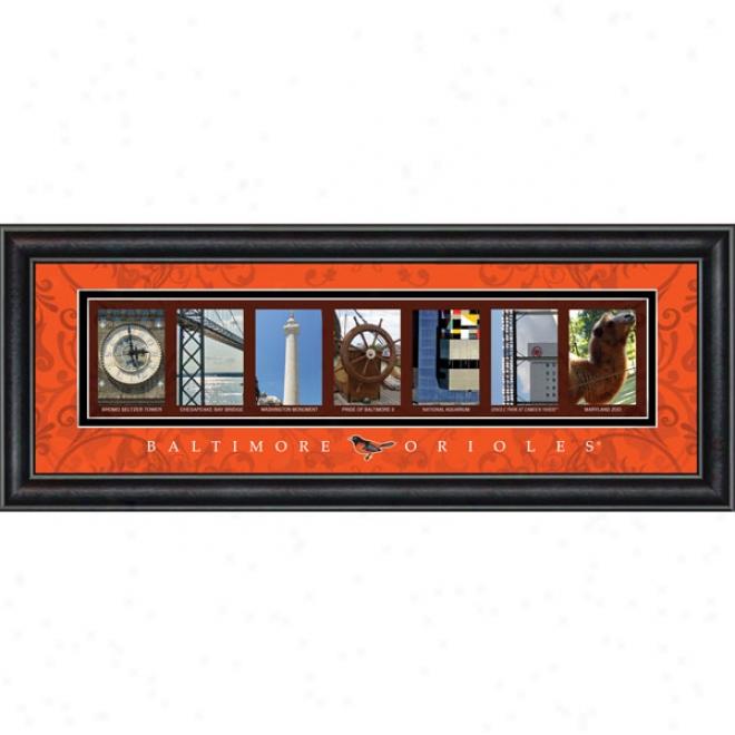 Baltimore Orioles Lettr Art