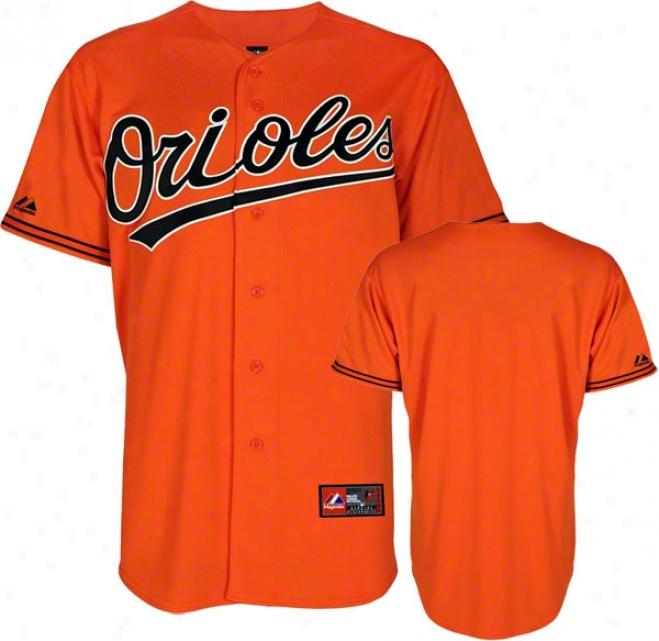 Baltimore Orioles Orange Alternate Mlb Replica Jersey