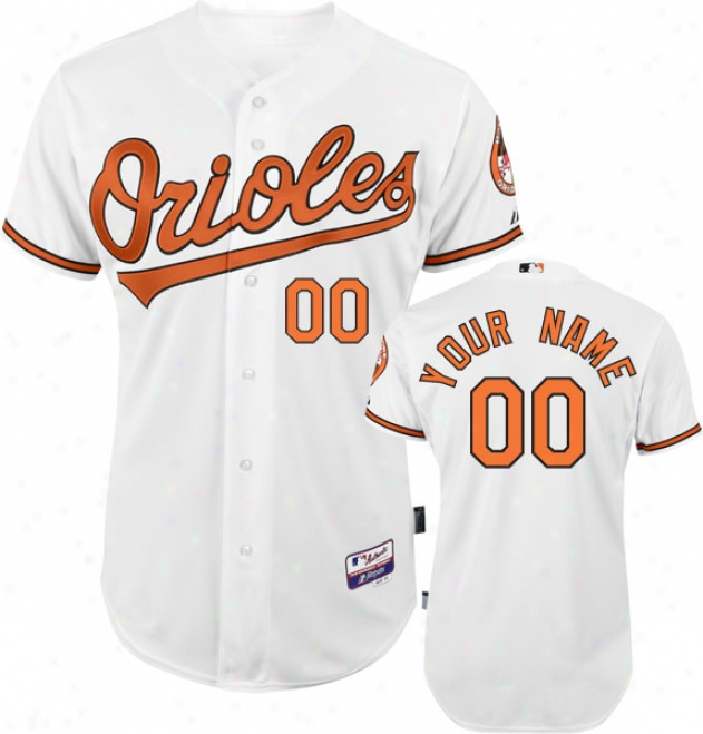 Baltimore Orioles - Personalized With Your Name - Authentic Cool Baseã¢â�žâ¢ Home White On-field Jersey