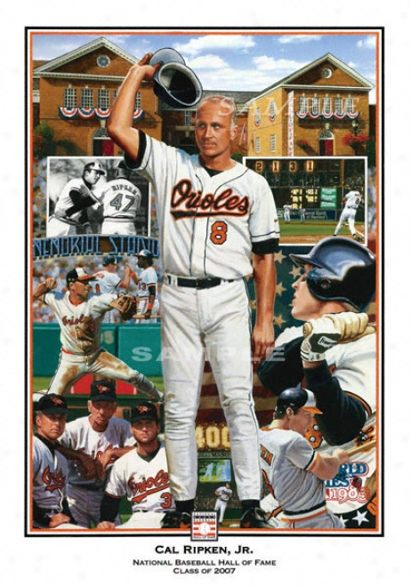 Baltimore Orioles - &quotironman&quot - Wall - Unframed Giclee