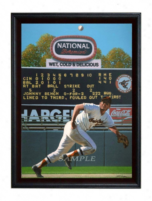 Baltimore Orioles - &quotthe Human Vacuum&quot - Large - Framed Giclee