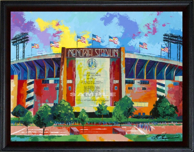 Baltimore Orioles/baltimore Colts - &quotmemorial Stadium&quot - Oversized - Framed Giclee