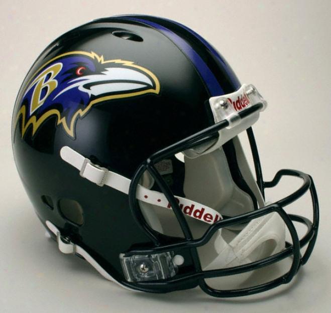 Baltimore Ravens Authentic Pro Line Revolution Riddell Ful1 Size Helmet