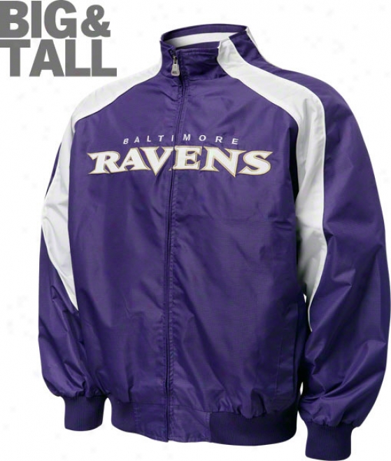 Baltimore Ravens Big & Tall Textured Full-zip Jacket