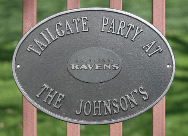 Baltimore Ravens Personalized Pewter And Silver Indoor/outdoor Plaque