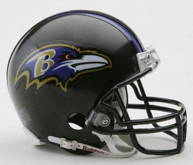 Baltimore Ravens Riddell Nfl Mini Helmet